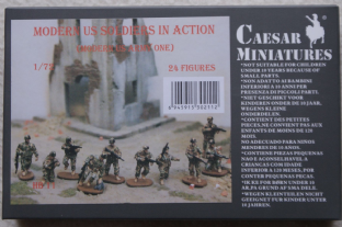 Caesar Miniatures 1/72 CMHB11 US Infantry in Action (Morden)